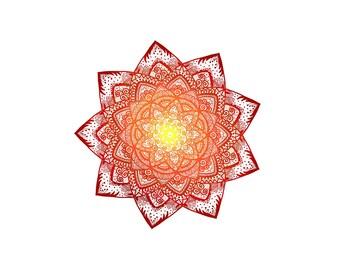 Mandala sun sticker