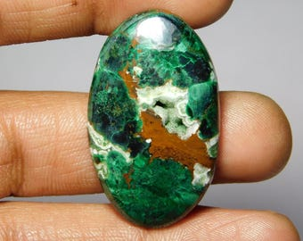 Awesome Druzy Chrysocolla gemstone Cabochon Very Gorgeous looking Excellent Quality handmade Gemstone Top quality 50.00cts (38x23x5)mm