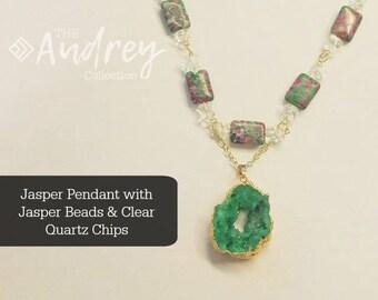 Jasper and Quartz Necklace