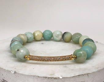 Beaded Stretch bracelet/ Boho Bracelet/ Natural gemstone bracelet/ Stackable Bracelet/ Gifts For Her/Bridesmaid Gift