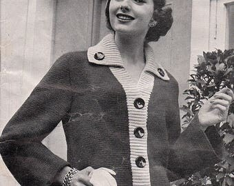 1940's Jacket, Knitting Pattern. Instant Download.