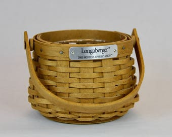 Longaberger Hostess Appreciation Basket 2003 with Protector