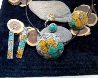 set pendant, ring and earrings