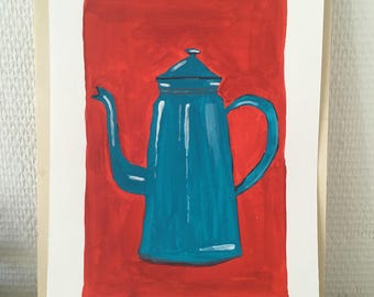Painting of coffee pot