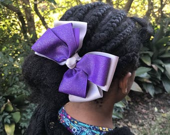 5 Inch Stacked Sparkle Pinwheel Hair Bow