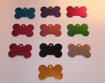 Personalised Pet Identity Tags in Various Colours