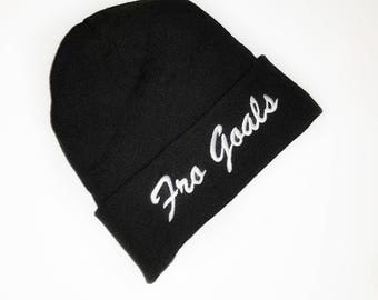 Fro Goals - Satin Lined Beanie Hat