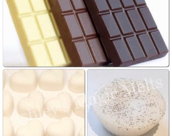 3 Chocolate scented soy wax melts, sweet melts, cheap wax melts, wax melt tarts, bakery wax melts, highly scented wax, scented gifts for her