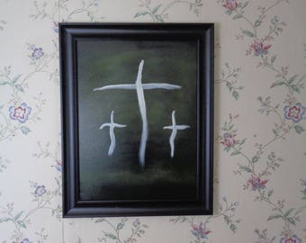 Three Crosses in the Night