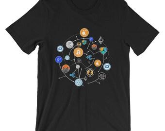Bitcoin Ehtereum Shirt, Cryptocurrency Universe, Blockchain,moon, Bitcoin shirt, BTC T-shirt, bitcoin shirt, hodl shirt