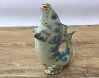 Soviet fish drinking Vintage Porcelian fish Carafe