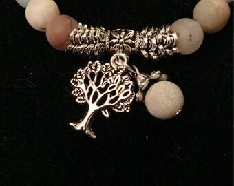 Natural amazonite stone, tree of life bracelet