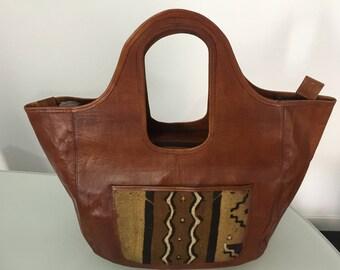Leather bag / bogolan