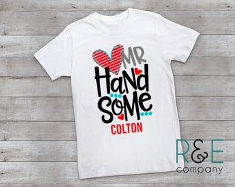 Mr Handsome Valentine Shirt, Boys Valentines Day Shirt, Boys Valentine Shirt, Kids Valentines Shirt, Valentines Shirt, Boys Valentine Shirt
