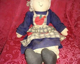 Vintage 1980's rag doll