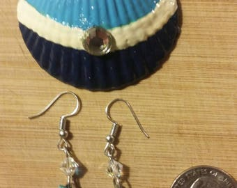 Real seashell hand crafted pendant and earrings