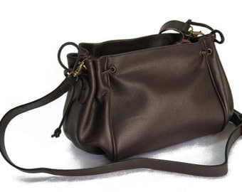 MJ Lady Leather Bag Handmade in Morocco,Brown Color Leather Goods
