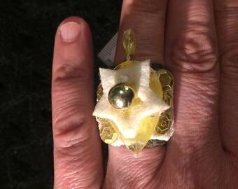 Spassring-yellow gold ring
