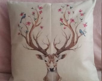 Matching deer / stag cushion  cover. 45x45
