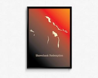 INSTANT DOWNLOAD Shawshank Redemtion Movie Poster, Alternative Movie Poster, Minimalist Movie Print, Film Poster