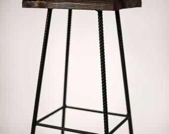 Metal frame kitchen stool