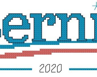 Bernie for President cross stitch pattern