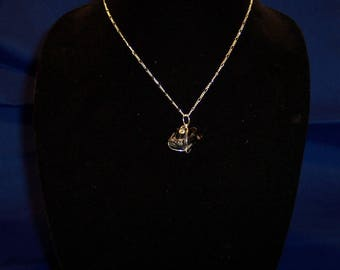 Maine Black Tourmaline in Sterling Silver - Pendant
