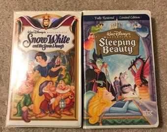 Snow White and Sleeping Beauty Masterpiece Collection VHS