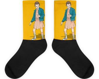 Yellow Eleven Socks | Stranger Things Store | Stranger Things Shirts, Mugs, Leggings & More