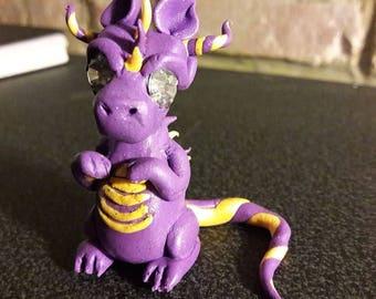 Adorable handmade clay dragon