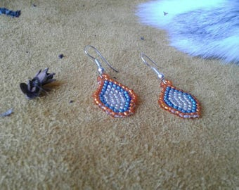 New Simple Edmonton Oilers Oil Drop Earrings