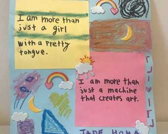 more girl than art - card stock poetry print