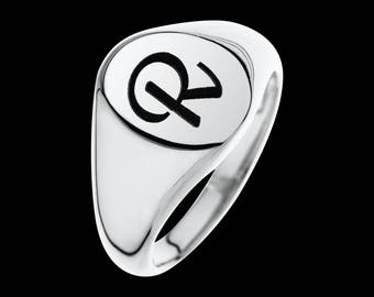Personalized Signet Ring - Custom Signet Ring - Engraved Ring - Letter Ring - Personalize Ring - Personalize Jewelry - Personalize Gift