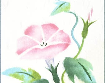 "Chigiri-e Japanese Washi Paper Collage DIY Art Kit ""Convolvulus"""