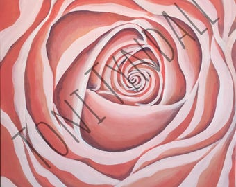 Pink Rose Colorful Fun New Orleans Art