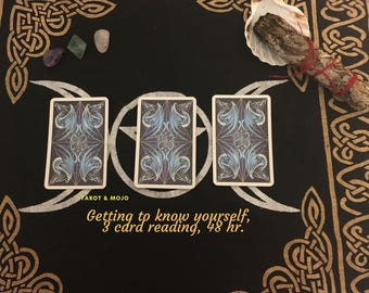 Get to know thyself in a 3 card reading! Fast and accurate, results in 48 hrs!