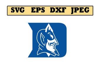 Duke Blue Devils SVG File - Vector Design in, Svg, Eps, Dxf, and Jpeg Format for Cricut and Silhouette, Digital download !!!!!!!!!!!!!!!!!!