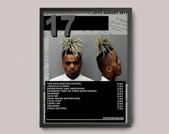 XXXTENTACION 17 Custom Music Poster Instant Download // Album Art // A3 Wall Art Poster Design // Printable