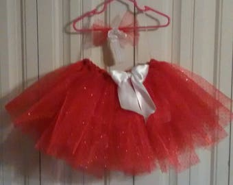 Red and white Valentines tutu