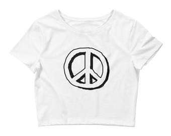 Peace Sign Crop Tee