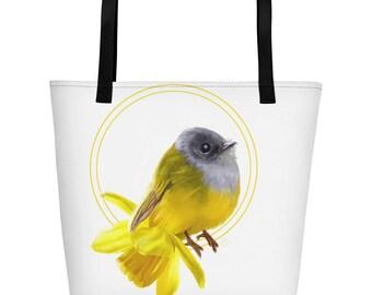Bird narcis Beach Bag