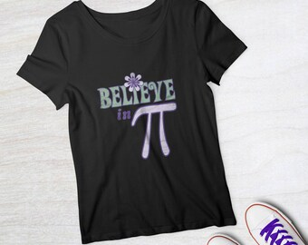 Pi Day tee | Pi gift | Math Shirt  | 1970s | Retro Graphic | Unisex | T-shirt | Ultraviolet | Purple | Science March | Short-Sleeve | Unisex