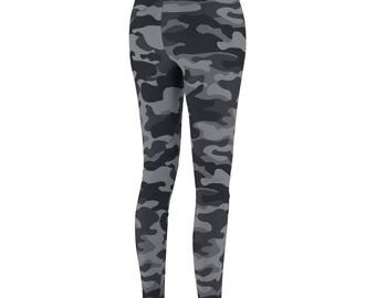 WomenS Cut  Sew Brand Grey Camo Casual Leggings