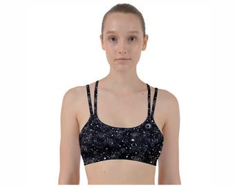 Galaxy Sports Bra | Workout Bra | Strappy Sports Bra | Exercise Bra | Printed Workout Bra | Yoga Sports Bra | Hot Yoga Bra | Sports Bra
