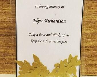 Wedding/Funeral confetti memory keepsake