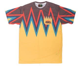 "T-Shirt ""the Himalayas"" yellow unisex"