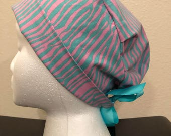 Pink and Green Zebra Hat