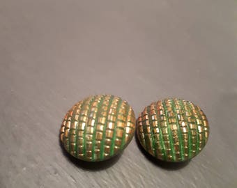 Two fabulous vintage glass buttons