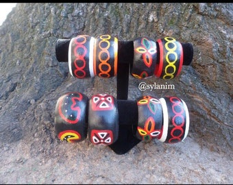 Toghu bangles/Atoghu bangles/ African bangles/hand painted bangles/wood bangles/tribal/ethnic