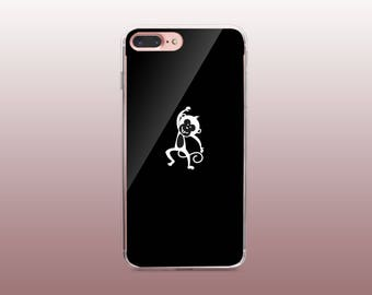 Monkey Black & White Clear TPU Phone Case for iPhone 8- iPhone 8 Plus - iPhone X - iPhone 7 Plus-iPhone 7-iPhone 6-iPhone 6S-Samsung S8
